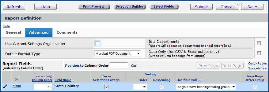Creating Custom Reports
